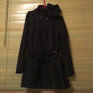 Columbia winter pea coat, insulated, belt and hood